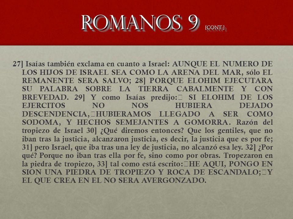 Romanos 9 [CONT ]